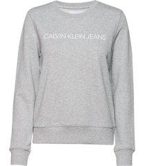 institutional core sweat-shirt trui grijs calvin klein jeans