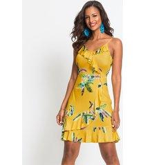 jurk met volants en bloemenprint