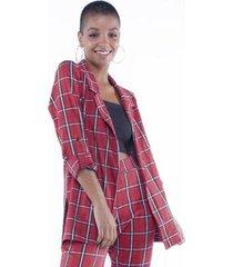 blazer pop me xadrez tartan feminino
