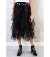 tule luxury rok zwart