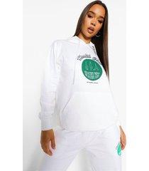 health club hoodie, white
