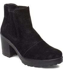 biacorvina suede boot shoes boots ankle boots ankle boot - heel svart bianco