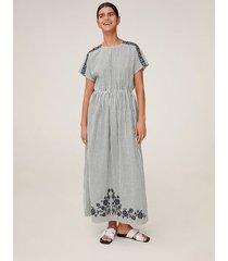 lange jurk met borduursel