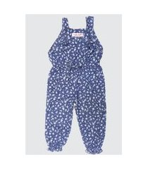50742 - macaquinho jeans floral miss doll