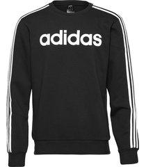 e 3s crew fl sweat-shirt tröja svart adidas performance