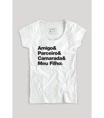 camiseta filho camarada fem reserva masculina - masculino