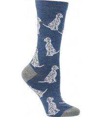 calcetín algodón dalmation azul mujer hush puppies