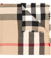 beige archive cashmere scarf