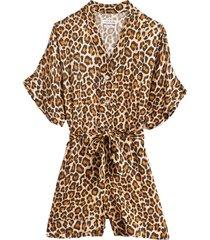 cherokee jumpsuit in leopard