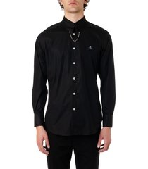 vivienne westwood black cotton shirt