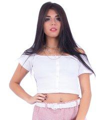 blusa up side wear canelada branca