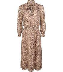 esqualo jurk long zebra jacquard print