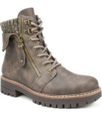 cliffs by white mountain women's mandy lace-up bootie women's shoes