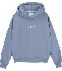 bluza hoodie barwinkowa wdech wydech