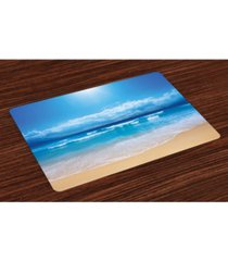 ambesonne beach place mats, set of 4