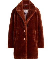 king louie amy coat zoot brunette brown