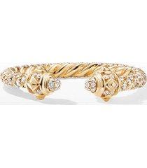 women's david yurman renaissance full pave ring in 18k gold