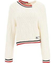 n.21 asymmetric sweater