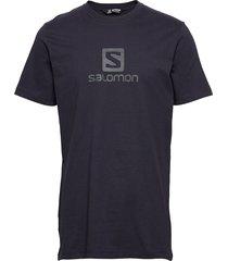 coton logo ss tee m t-shirts short-sleeved blå salomon