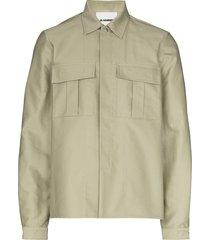 jil sander long-sleeve military shirt - green