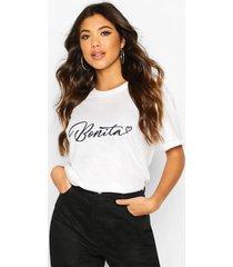 bonita slogan t-shirt, white