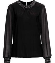 maglia con strass (nero) - bodyflirt
