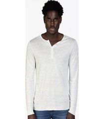 camiseta masculina mescla linho viscose off white