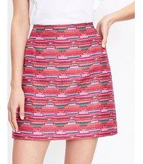 loft ikat jacquard mini skirt