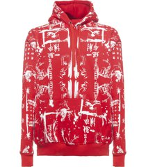 family first milano hoodie ideogram red