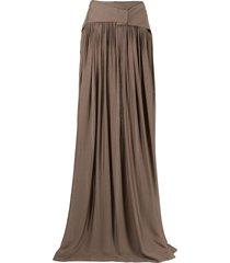 bondi born ripple organic-silk maxi skirt - brown