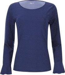 camiseta lunares color azul, talla 6