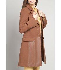 abrigo mujer muflon café vintage liola