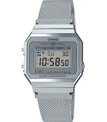 reloj casio a700wm7adf plateado acero inoxidable