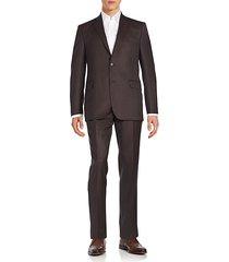 regular-fit herringbone wool suit
