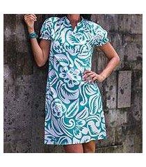 cotton dress, 'balinese paradise' (indonesia)