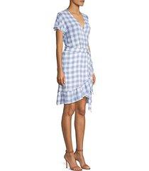 bridgette gingham wrap dress