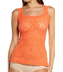 hanky panky signature lace camisole, size x-small in orange sparkle at nordstrom