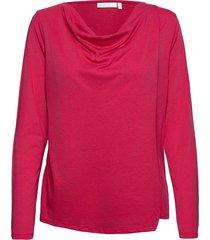 caimiiw cawl neck blouse blus långärmad rosa inwear