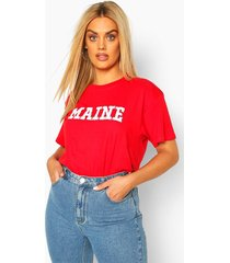 plus maine short sleeve t-shirt, red