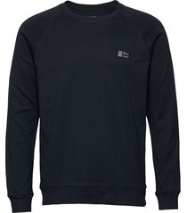 cotton rib stelt badge sweat-shirt trui blauw mads nørgaard
