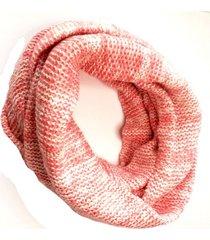 bufanda de lana circular jaspeado rosado niba