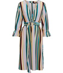 klänning onqblair 3/4 stripe midi dress
