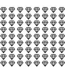 adesivo de parede decohouse diamond preto - preto - dafiti