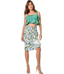 falda primia cereza multicolor
