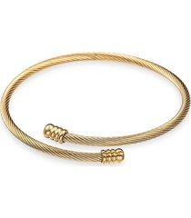 eye candy la women's tina titanium wrap coil bracelet - gold