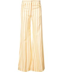 flared yellow striped pants