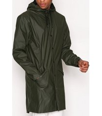rains long jacket jackor green