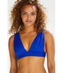 hunkemöller deluxe triangel-bikiniöverdel blå