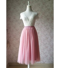 dusty rose high waist midi tulle skirt dusty rose bridal bridesmaid tulle skirts
