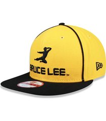 boné new era 950 orig. fit snapback bruce lee amarelo